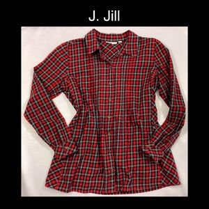 ♥️J. JILL Red XS Button Up♥️
